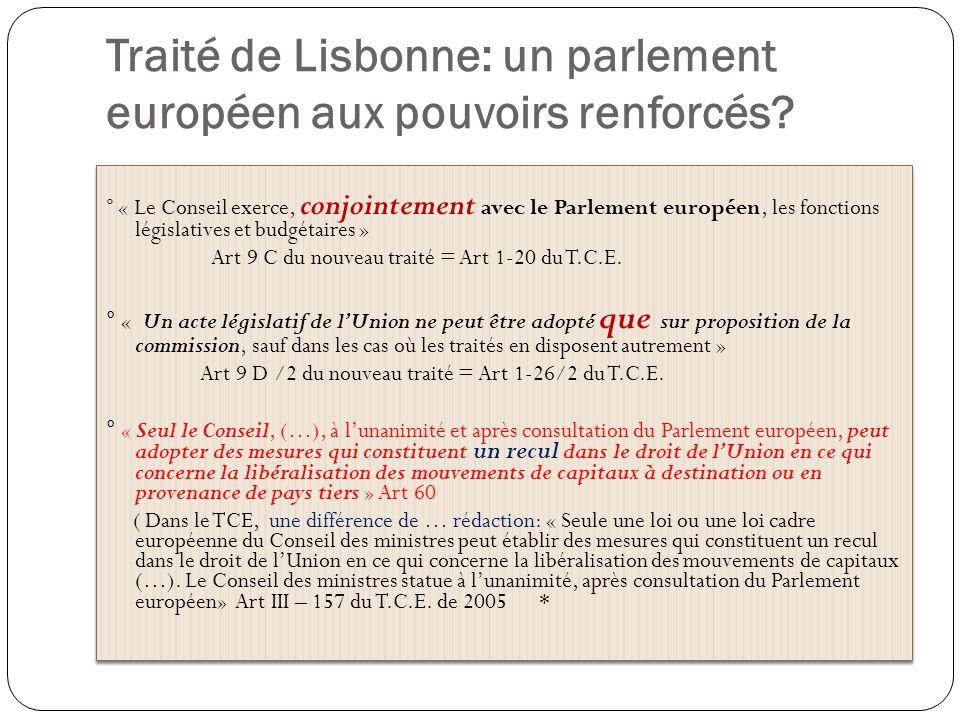 Traité de Lisbonne: un parlement européen aux pouvoirs renforcés