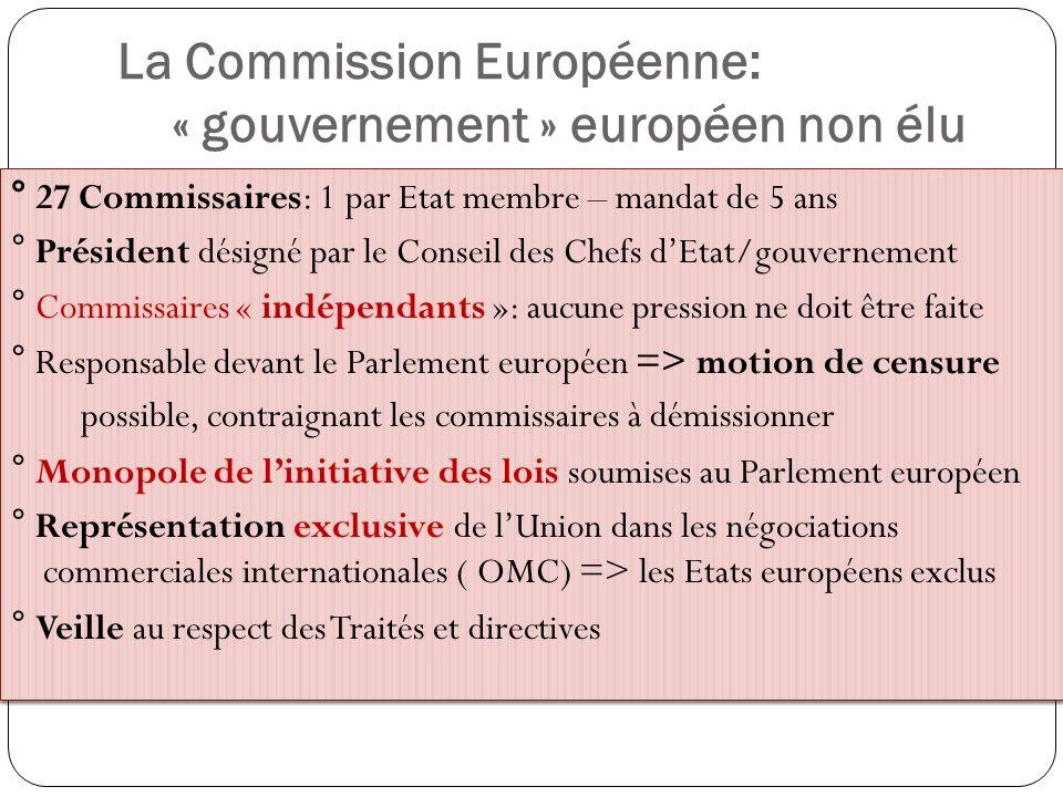 La Commission Européenne: « gouvernement » européen non élu