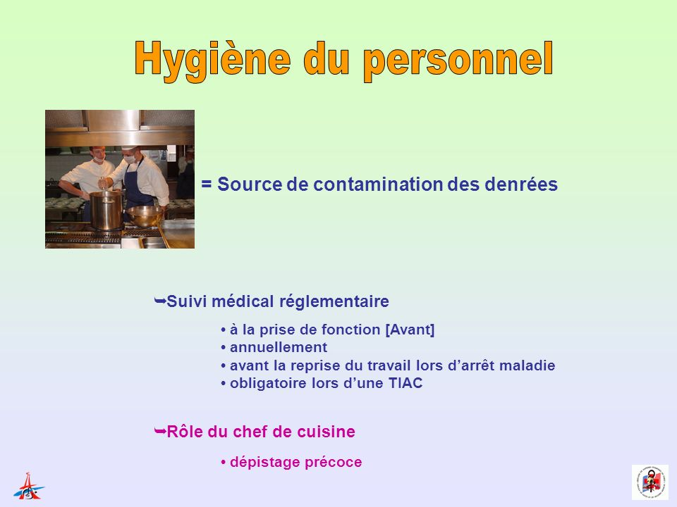 Hygi ne des personnels et des manipulations ppt video for Service veterinaire cuisine