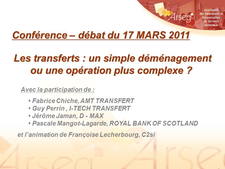 Conférence – débat du 17 MARS 2011