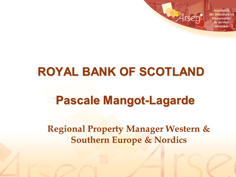 ROYAL BANK OF SCOTLAND Pascale Mangot-Lagarde