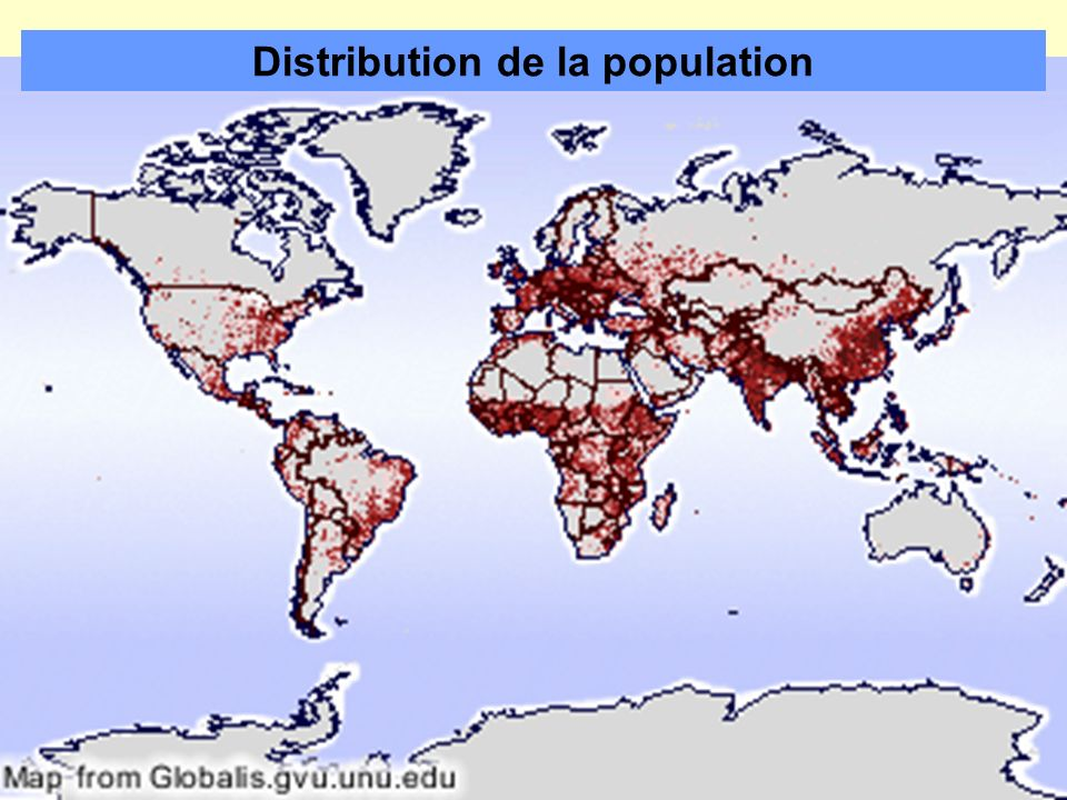 Distribution de la population