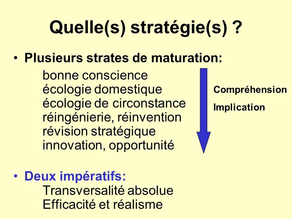 Quelle(s) stratégie(s)