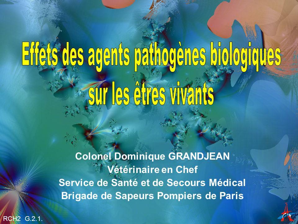 Effets des agents pathogènes biologiques sur les êtres vivants