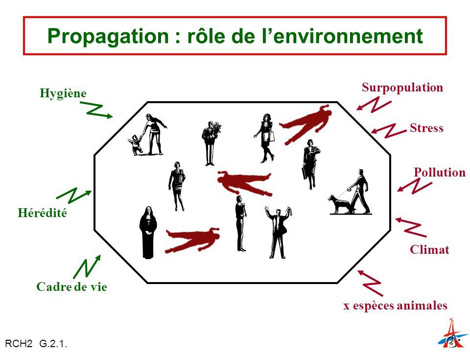 Propagation : rôle de l'environnement