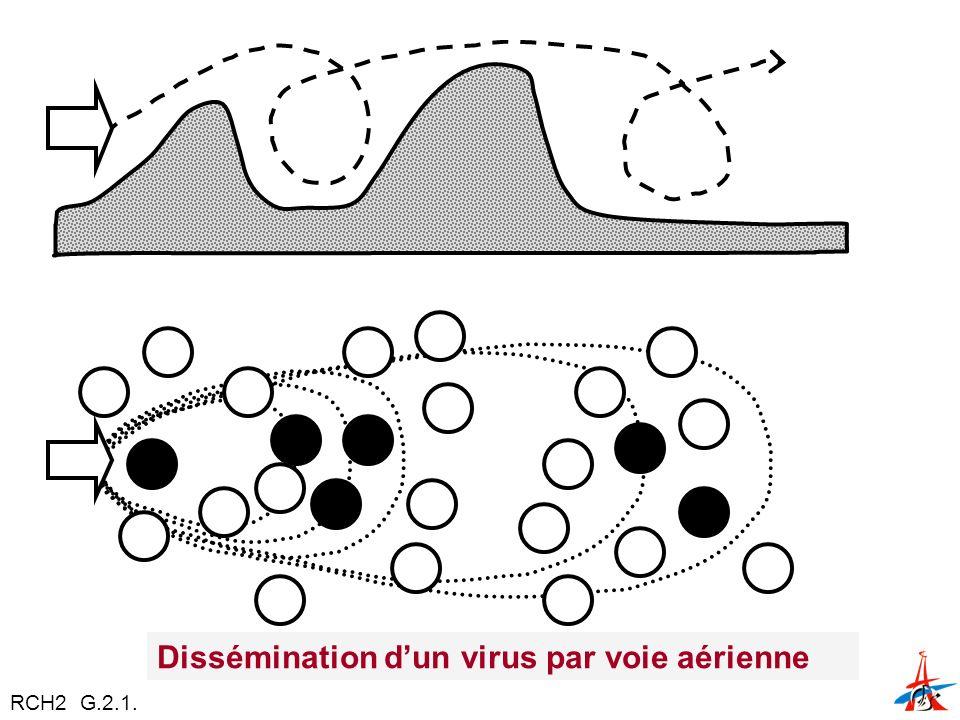 Dissémination d'un virus par voie aérienne