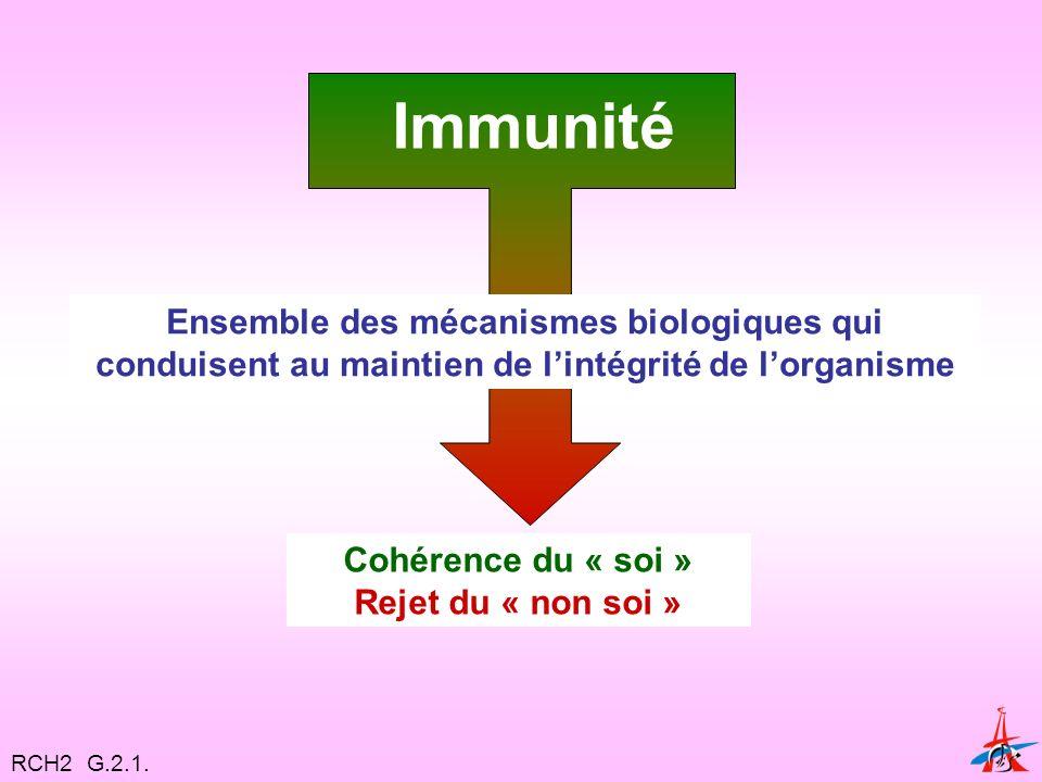 Immunité Ensemble des mécanismes biologiques qui conduisent au maintien de l'intégrité de l'organisme.