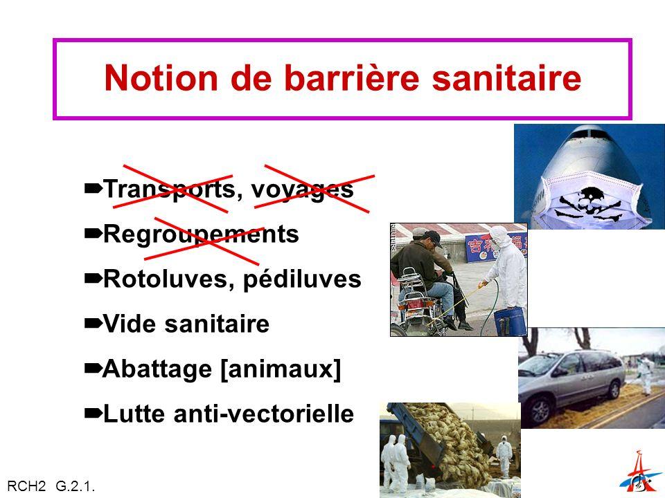 Notion de barrière sanitaire