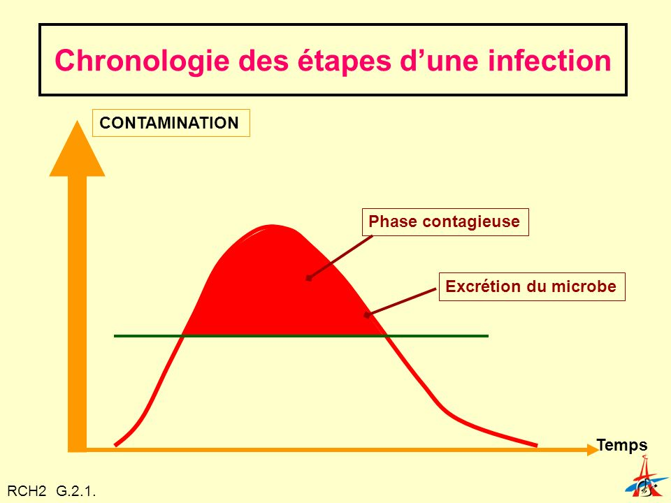Chronologie des étapes d'une infection