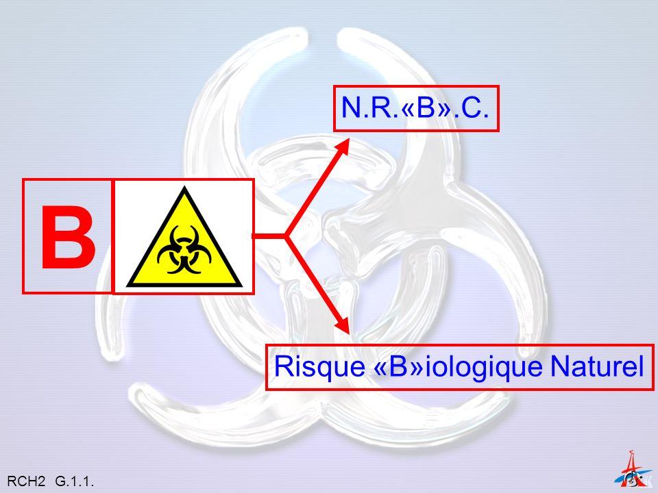 N.R.«B».C. B Risque «B»iologique Naturel RCH2 G.1.1.