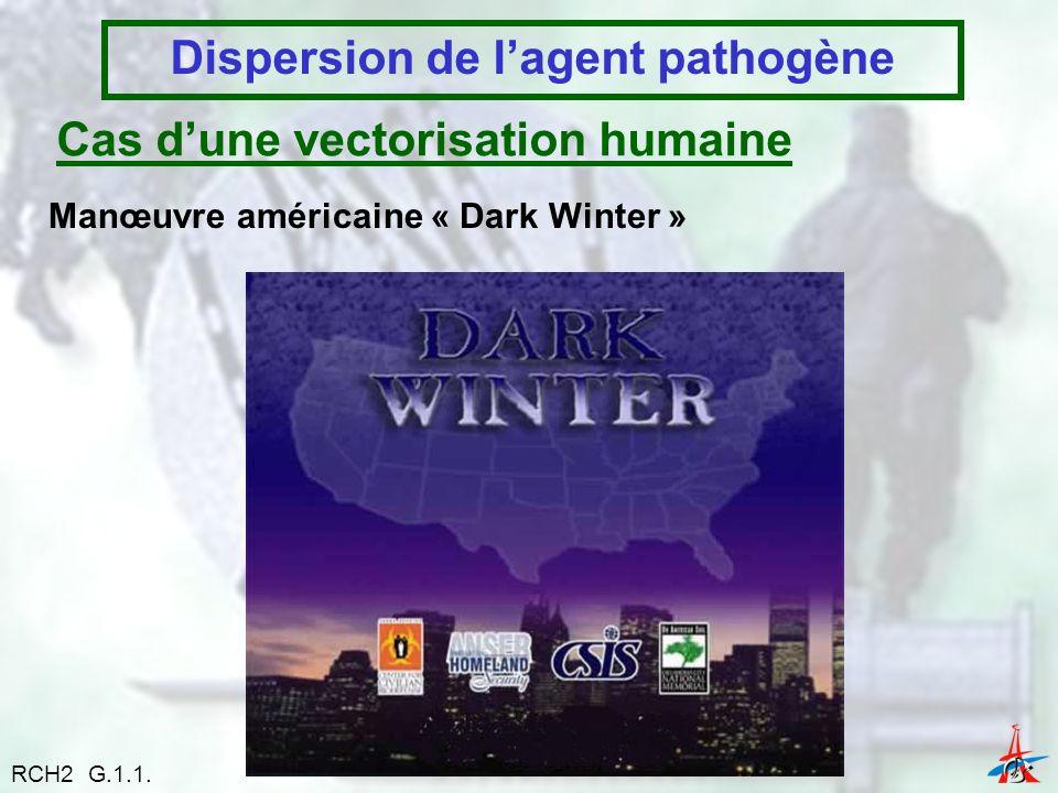 Dispersion de l'agent pathogène