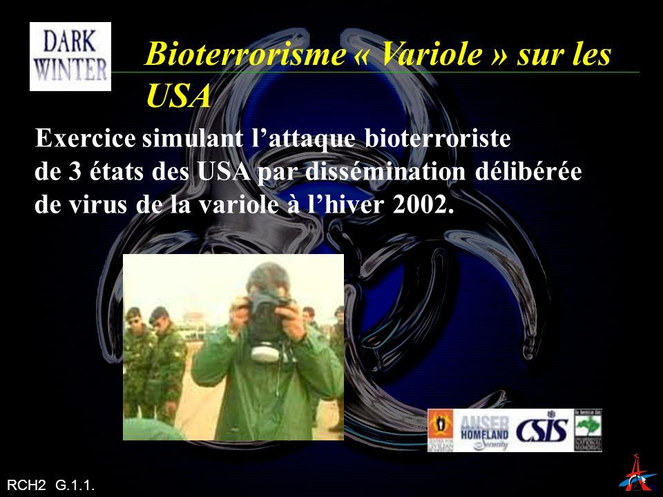 Bioterrorisme « Variole » sur les USA
