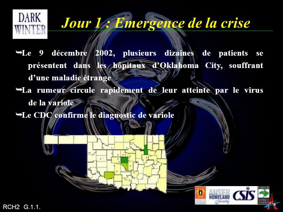 Jour 1 : Emergence de la crise