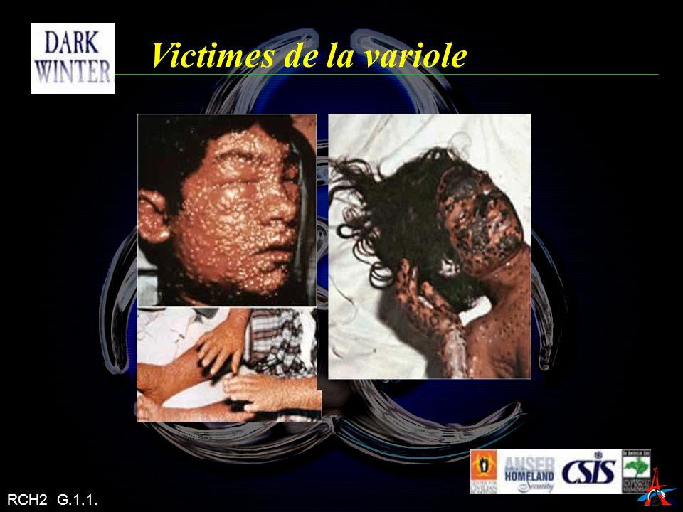 Victimes de la variole RCH2 G.1.1.