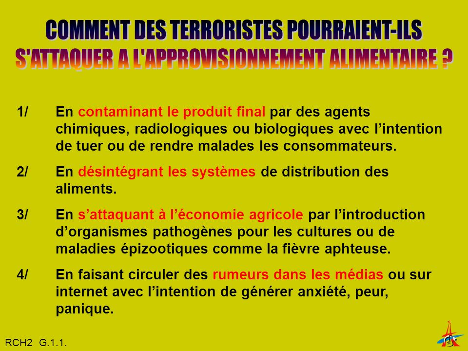 COMMENT DES TERRORISTES POURRAIENT-ILS