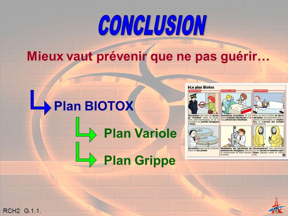 CONCLUSION Mieux vaut prévenir que ne pas guérir… Plan BIOTOX