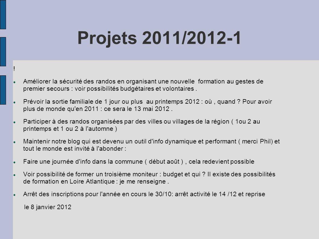 Projets 2011/2012-1 !