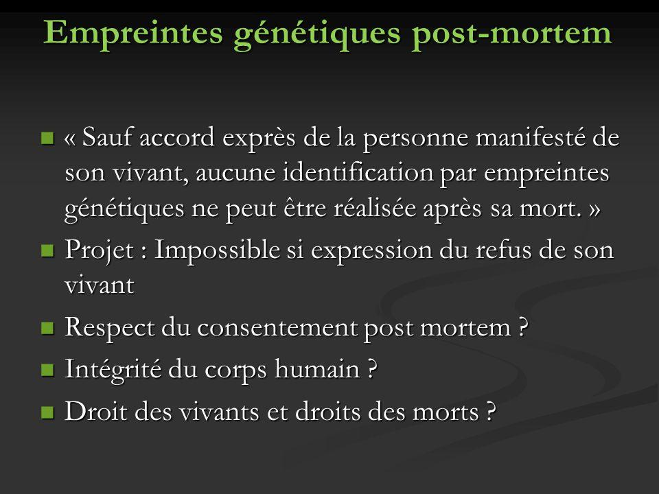 Empreintes génétiques post-mortem