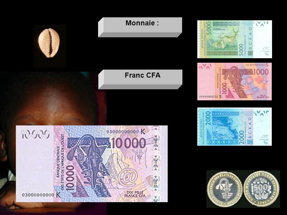 Monnaie : Franc CFA