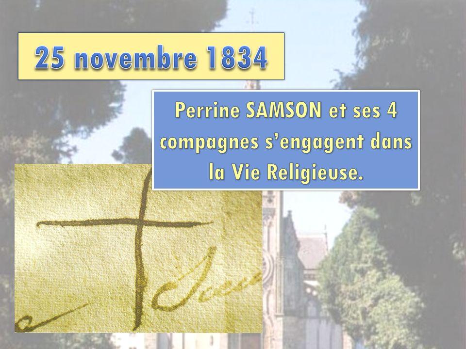 Perrine SAMSON et ses 4 compagnes s'engagent dans la Vie Religieuse.