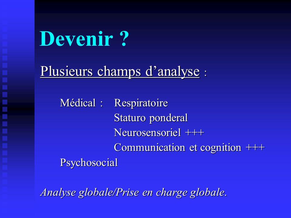 Devenir Plusieurs champs d'analyse : Médical : Respiratoire