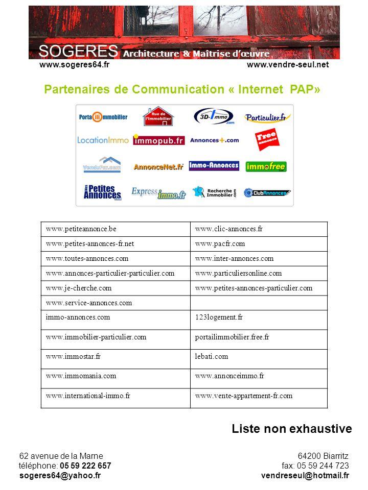 Partenaires de Communication « Internet PAP»