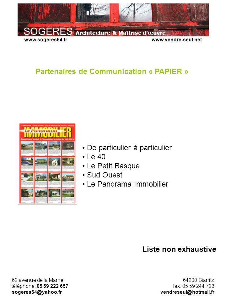 Partenaires de Communication « PAPIER »