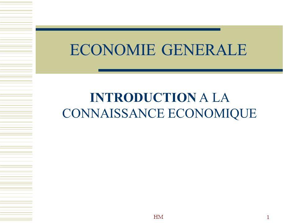 INTRODUCTION A LA CONNAISSANCE ECONOMIQUE