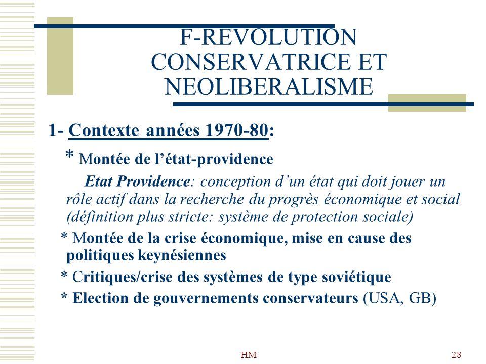 F-REVOLUTION CONSERVATRICE ET NEOLIBERALISME