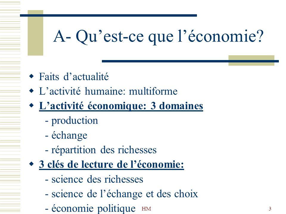 A- Qu'est-ce que l'économie