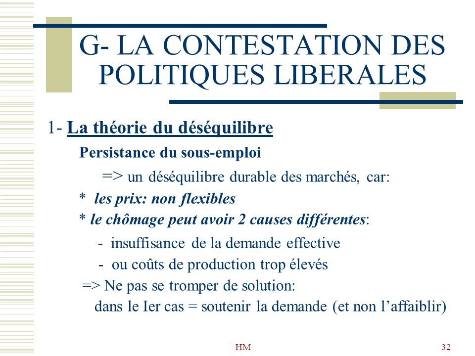 G- LA CONTESTATION DES POLITIQUES LIBERALES