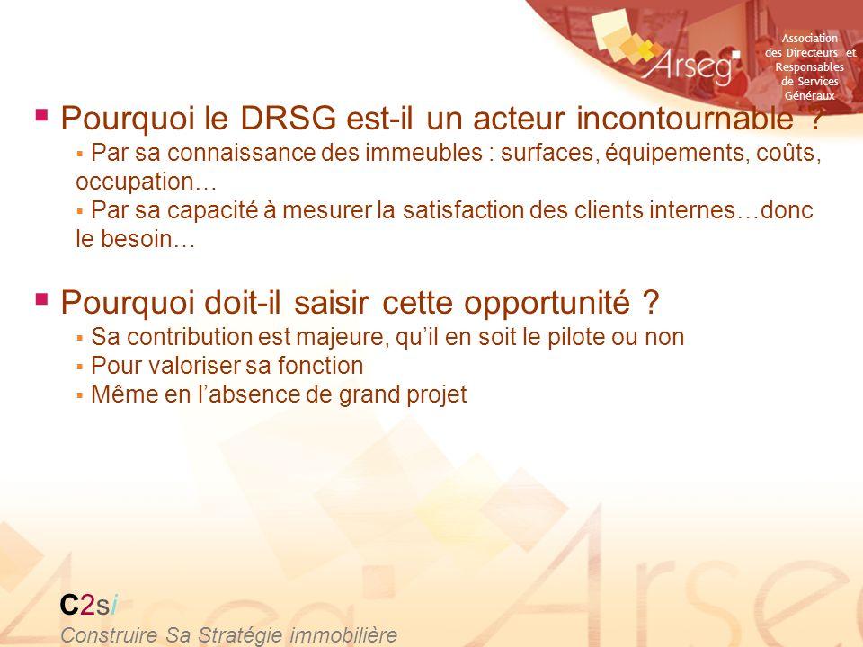 Pourquoi le DRSG est-il un acteur incontournable