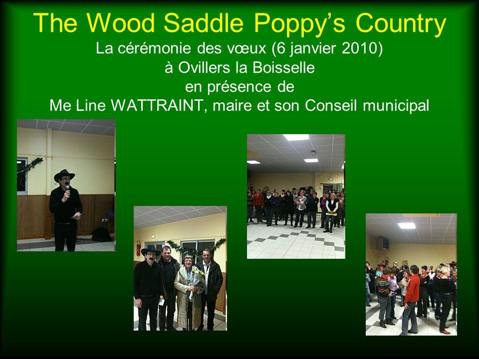 The Wood Saddle Poppy's Country La cérémonie des vœux (6 janvier 2010) à Ovillers la Boisselle en présence de Me Line WATTRAINT, maire et son Conseil municipal