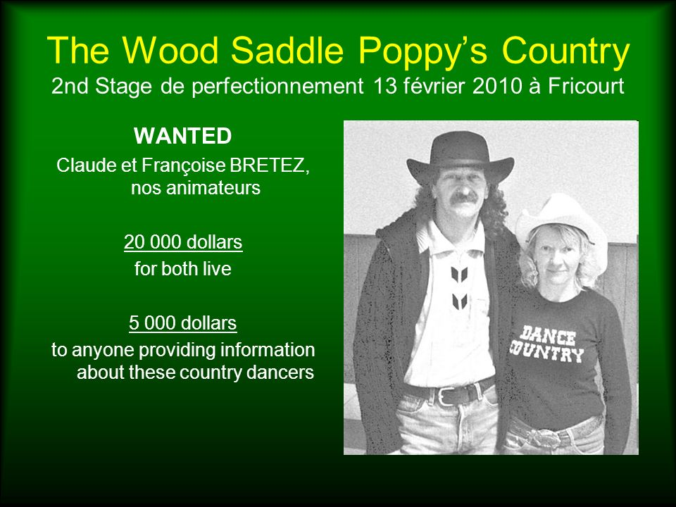 The Wood Saddle Poppy's Country 2nd Stage de perfectionnement 13 février 2010 à Fricourt