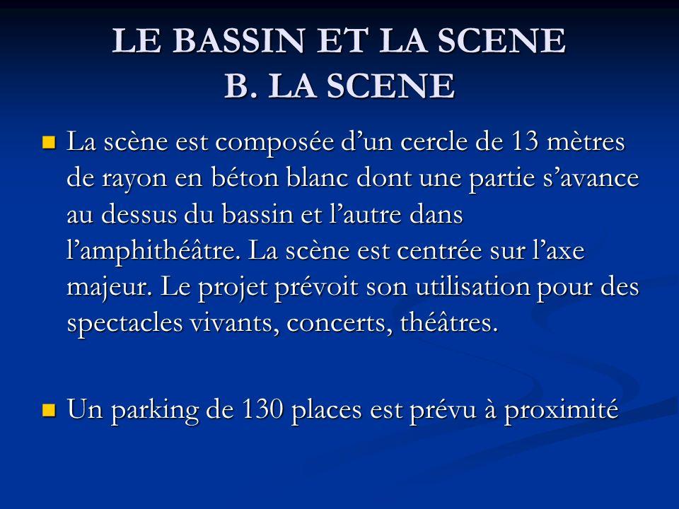 LE BASSIN ET LA SCENE B. LA SCENE