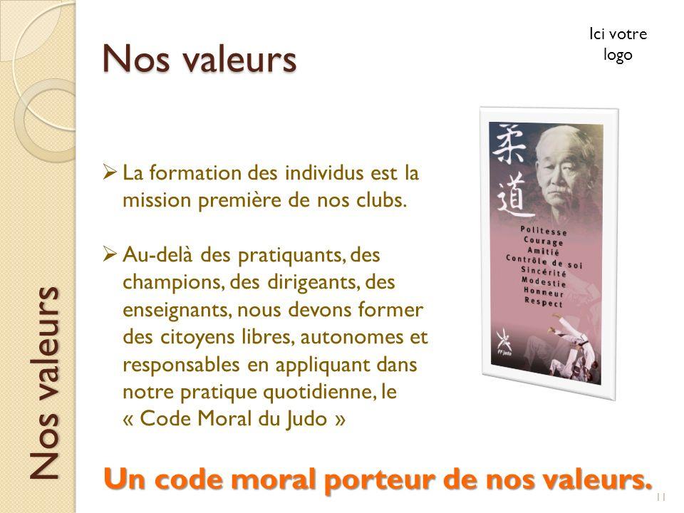 Un code moral porteur de nos valeurs.