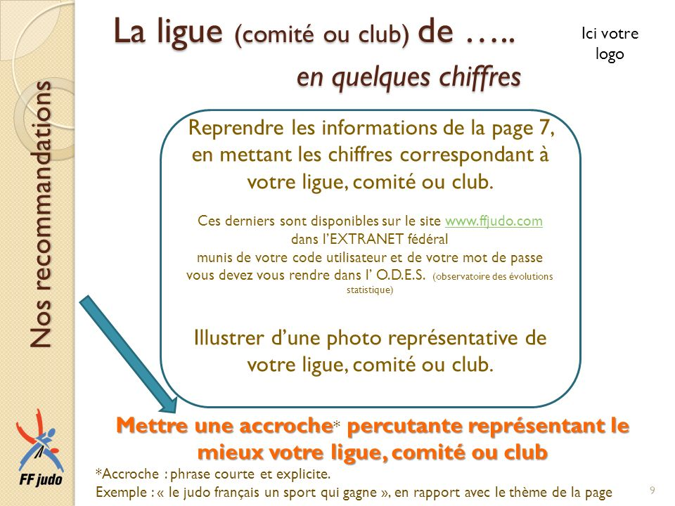 La ligue (comité ou club) de ….. en quelques chiffres