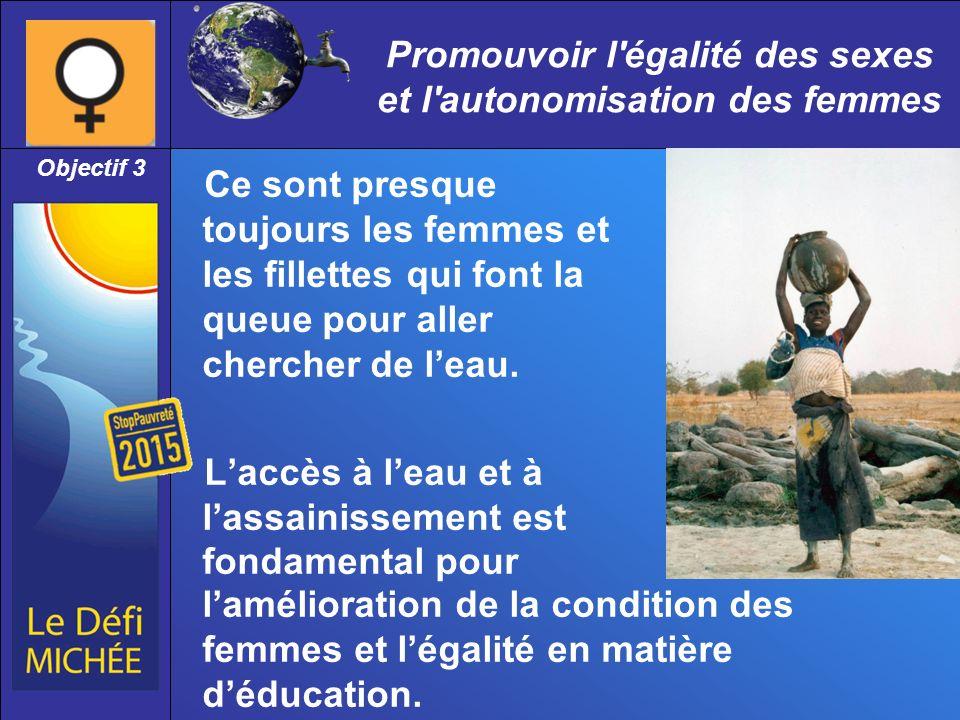 Promouvoir l égalité des sexes et l autonomisation des femmes