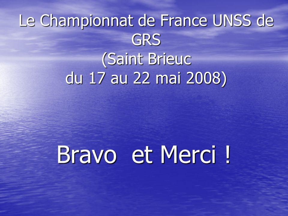 Le Championnat de France UNSS de GRS (Saint Brieuc du 17 au 22 mai 2008)