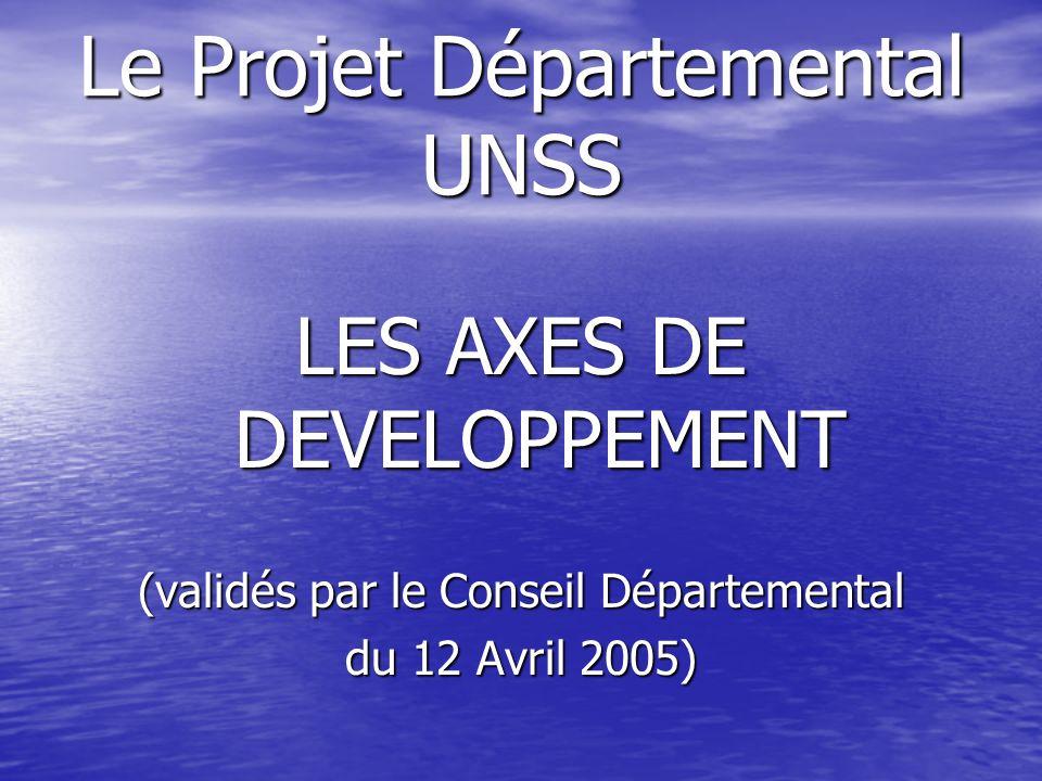 Le Projet Départemental UNSS