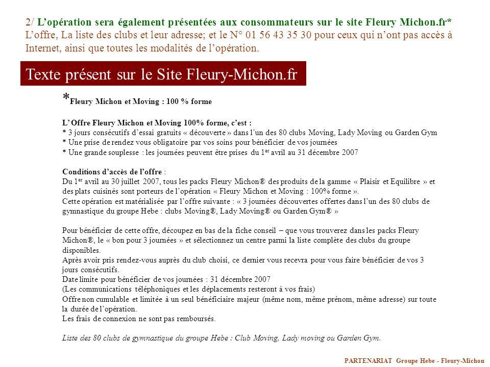 Texte présent sur le Site Fleury-Michon.fr