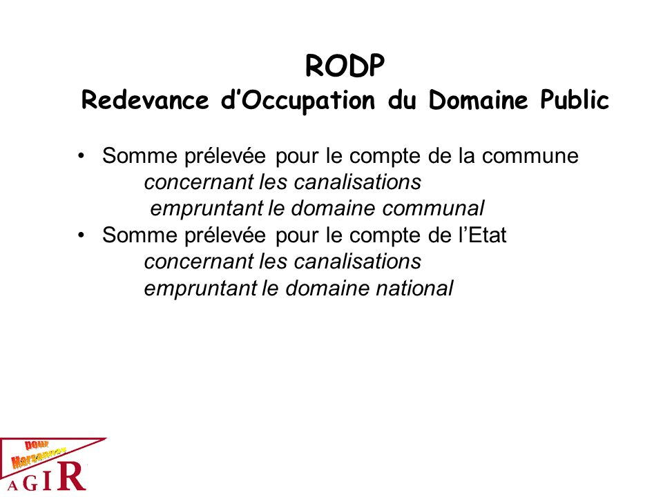Redevance d'Occupation du Domaine Public