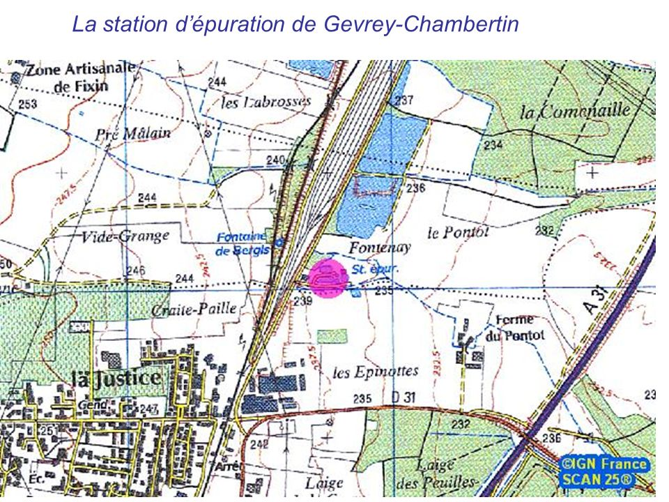 La station d'épuration de Gevrey-Chambertin