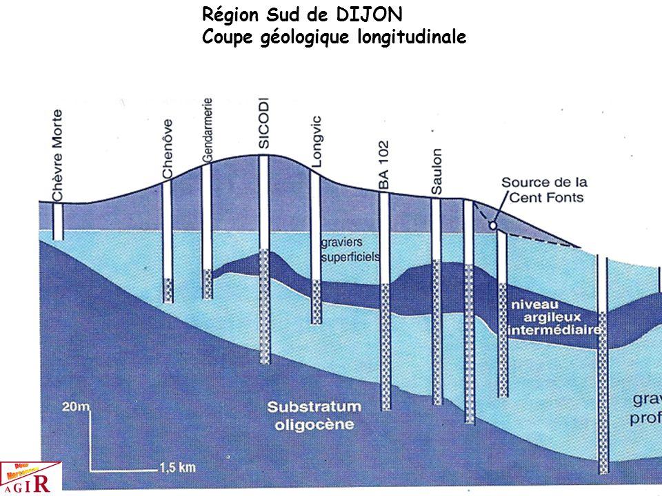 Région Sud de DIJON Coupe géologique longitudinale