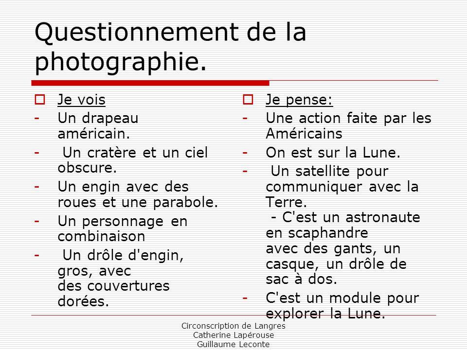 Questionnement de la photographie.