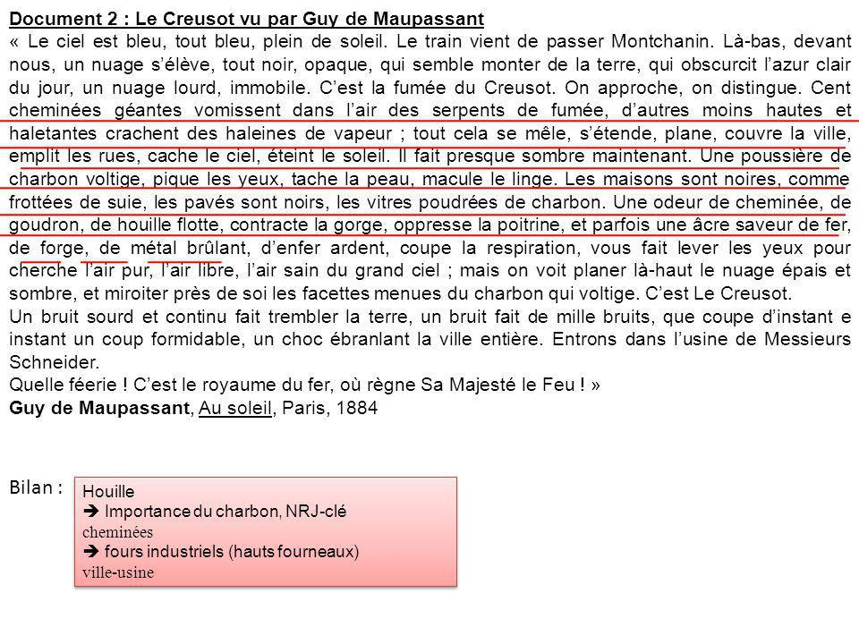 Bilan : Document 2 : Le Creusot vu par Guy de Maupassant