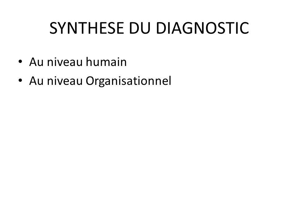 SYNTHESE DU DIAGNOSTIC