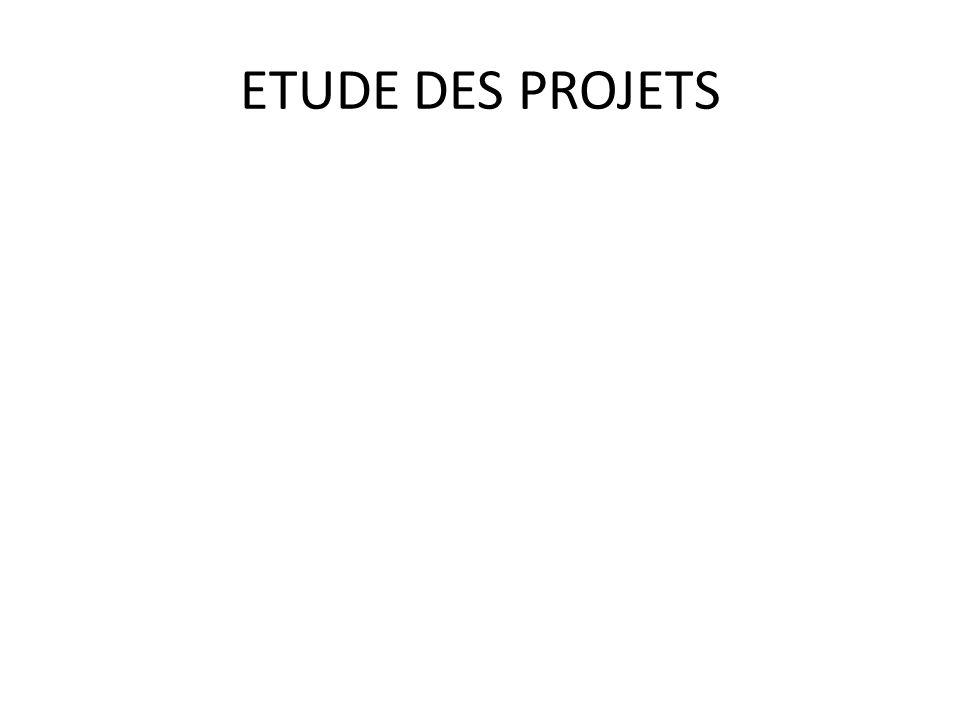 ETUDE DES PROJETS