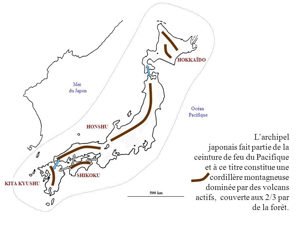 HOKKAÏDO Mer. du Japon. Océan. Pacifique. HONSHU.