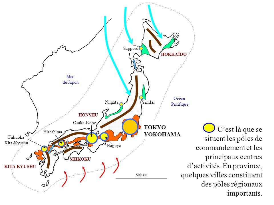 Sendaï Niigata. Sapporo. TOKYO. YOKOHAMA. Nagoya. Fukuoka. Kita-Kyushu. Hiroshima. Osaka-Kobé.